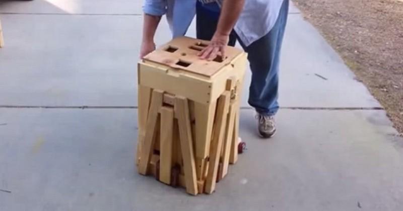 Het lijkt op een normale houten kist maar toen hij dit for Foto op hout maken eigen huis en tuin