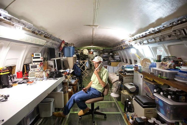 vliegtuig-kantoor