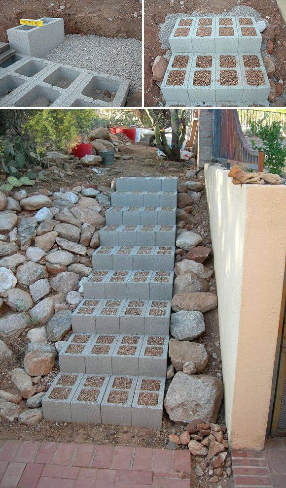 grind beton tuin trap