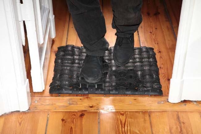 rubberen deurmat