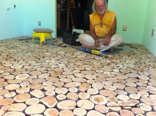 Houten Vloer Lijmen : Ze legden houten schijven op hun koude vloer het resultaat een