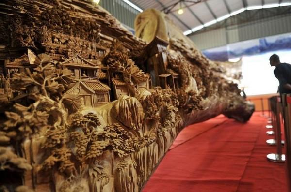 hout sculptuur kunst snijwerk