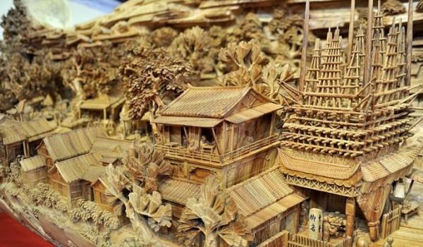 tentoonstelling China hout snijwerken