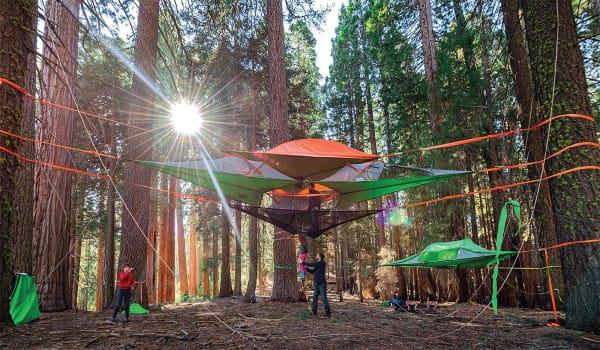 tent bos kamperen