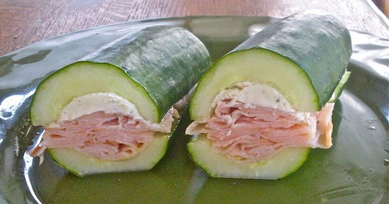 komkommer, kip, roomkaas