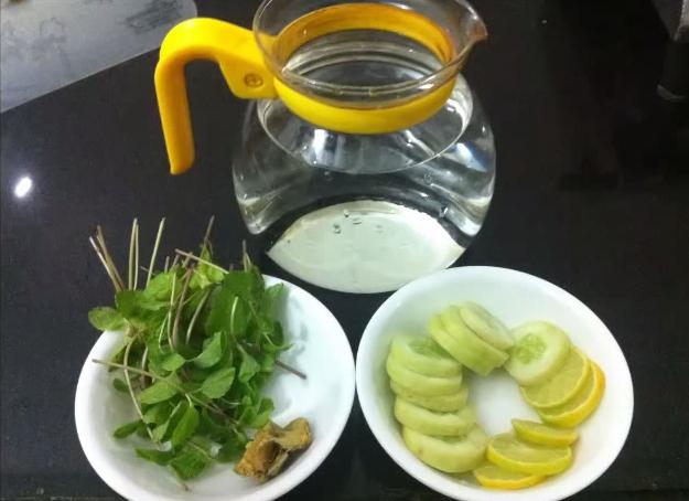 gember, munt, komkommer