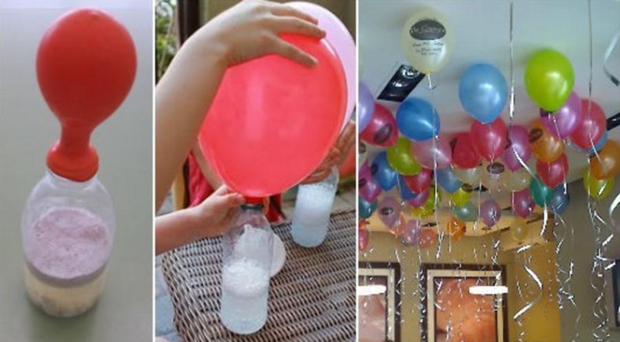 ballonnen met helium vullen