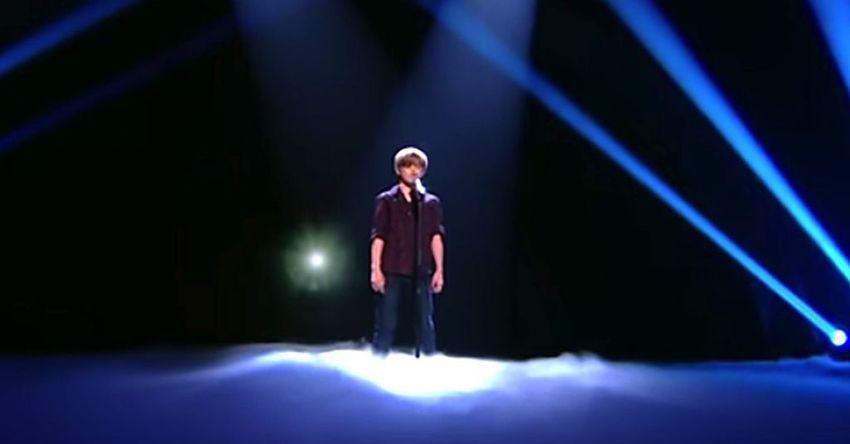 podium verlichting, zingen, koor