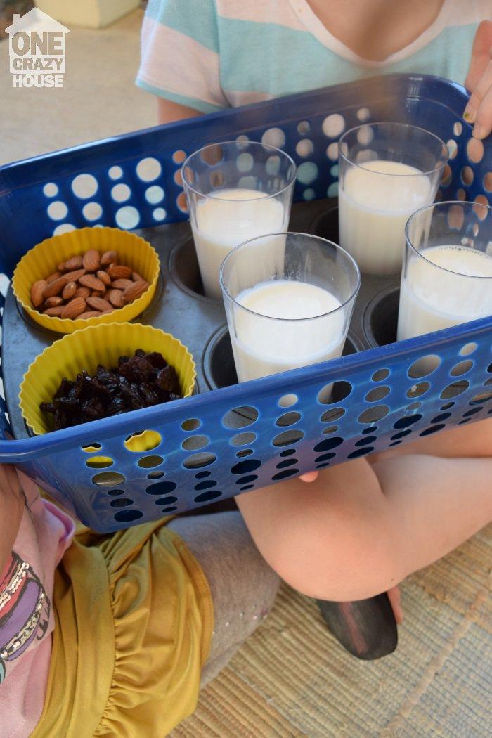 melk, noten
