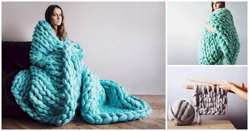 deken, wol, merinowol, breien, haken, haaknaald