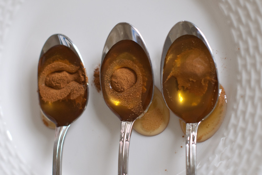 eetlepel kaneel, eetlepel honing