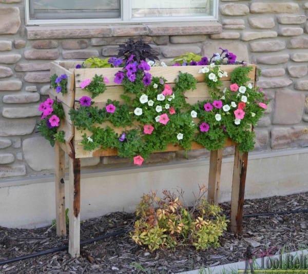goedkope bloempot buiten